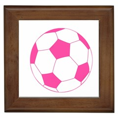 Soccer Ball Pink Framed Ceramic Tile by Designsbyalex