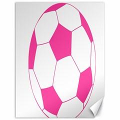 Soccer Ball Pink Canvas 18  X 24  (unframed) by Designsbyalex