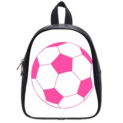 Soccer Ball Pink School Bag (small) by Designsbyalex