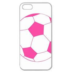 Soccer Ball Pink Apple Seamless Iphone 5 Case (clear) by Designsbyalex