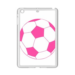 Soccer Ball Pink Apple iPad Mini 2 Case (White) by Designsbyalex