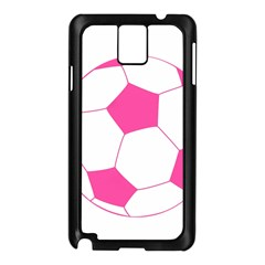 Soccer Ball Pink Samsung Galaxy Note 3 N9005 Case (black)