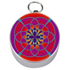Mandala Silver Compass by SaraThePixelPixie