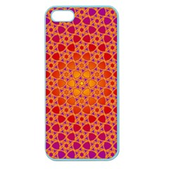 Radial Flower Apple Seamless Iphone 5 Case (color) by SaraThePixelPixie