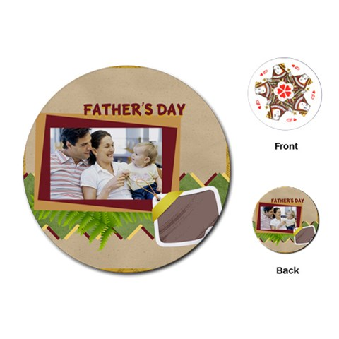 Fathers Day By Dad   Playing Cards (round)   Yjtzgvwzkpcc   Www Artscow Com Front