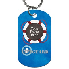 Lifeguard Dog Tag 2 Sided 2 By Lisa Minor   Dog Tag (two Sides)   Fdzmbs1ibq8n   Www Artscow Com Front