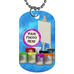 Artist Dog Tag 2 Sided 1 By Lisa Minor   Dog Tag (two Sides)   08r04lh6i84i   Www Artscow Com Front