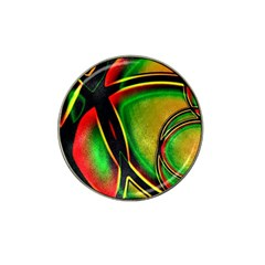 Multicolored Modern Abstract Design Golf Ball Marker (for Hat Clip) by dflcprints