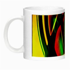 Multicolored Modern Abstract Design Glow In The Dark Mug by dflcprints