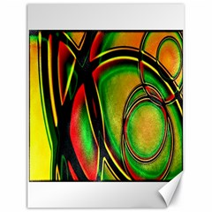 Multicolored Modern Abstract Design Canvas 18  x 24  (Unframed)