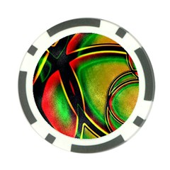 Multicolored Modern Abstract Design Poker Chip (10 Pack) by dflcprints