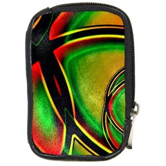 Multicolored Modern Abstract Design Compact Camera Leather Case by dflcprints