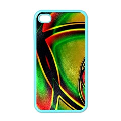 Multicolored Modern Abstract Design Apple Iphone 4 Case (color) by dflcprints