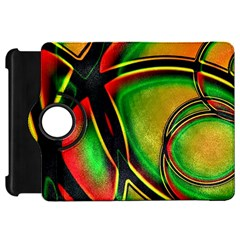 Multicolored Modern Abstract Design Kindle Fire Hd 7  (1st Gen) Flip 360 Case by dflcprints
