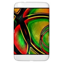 Multicolored Modern Abstract Design Samsung Galaxy Tab 3 (8 ) T3100 Hardshell Case  by dflcprints