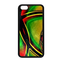 Multicolored Modern Abstract Design Apple Iphone 5c Seamless Case (black) by dflcprints