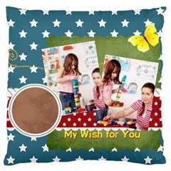 Kids By Kids   Large Cushion Case (two Sides)   Jhvfw13mh500   Www Artscow Com Back