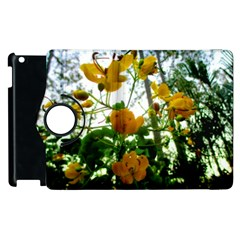 Yellow Flowers Apple iPad 2 Flip 360 Case