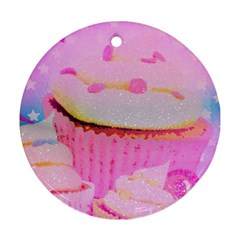 Cupcakes Covered In Sparkly Sugar Round Ornament (two Sides) by StuffOrSomething