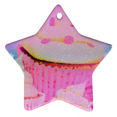 Cupcakes Covered In Sparkly Sugar Star Ornament (two Sides) by StuffOrSomething