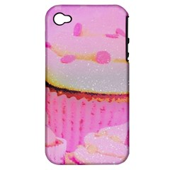 Cupcakes Covered In Sparkly Sugar Apple Iphone 4/4s Hardshell Case (pc+silicone) by StuffOrSomething