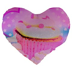 Cupcakes Covered In Sparkly Sugar 19  Premium Heart Shape Cushion by StuffOrSomething