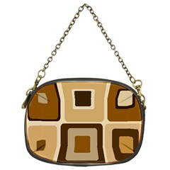 Retro Coffee Squares Chain Purse (Two Sided)  by SendCoffee