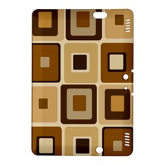 Retro Coffee Squares Kindle Fire HDX 8.9  Hardshell Case by SendCoffee