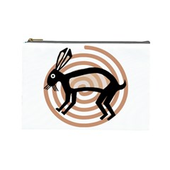Mimbres Rabbit Cosmetic Bag (large) by MisfitsEnterprise