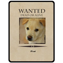 Wanted By Divad Brown   Double Sided Fleece Blanket (large)   3cky31p13ddk   Www Artscow Com 80 x60 Blanket Front