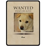 wanted - Double Sided Fleece Blanket (Large)