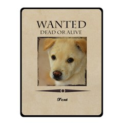 Wanted By Divad Brown   Double Sided Fleece Blanket (small)   Epve0uath377   Www Artscow Com 50 x40 Blanket Back