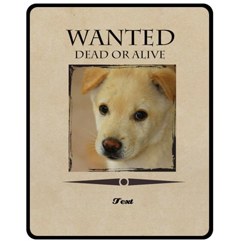 Wanted By Divad Brown   Fleece Blanket (medium)   Qrbtq2cky8ef   Www Artscow Com 60 x50 Blanket Front