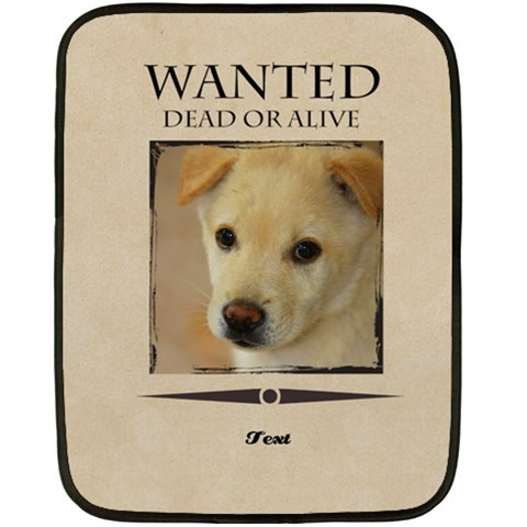 Wanted By Divad Brown   Fleece Blanket (mini)   Ywvn087hqrec   Www Artscow Com 35 x27 Blanket