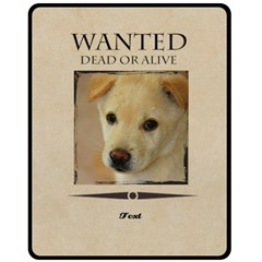 Wanted By Divad Brown   Double Sided Fleece Blanket (medium)   367mht839g92   Www Artscow Com 60 x50 Blanket Back