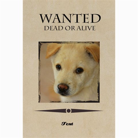 Wanted By Divad Brown      9v53jp194fnf   Www Artscow Com 36 x24 Poster - 1