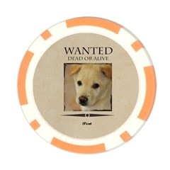 Wanted By Divad Brown   Poker Chip Card Guard   Uztajv8f2zi8   Www Artscow Com Back