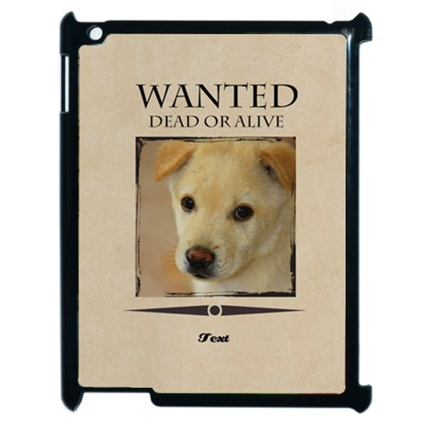 Wanted By Divad Brown   Apple Ipad 2 Case (black)   Ym5anwe9ykq6   Www Artscow Com Front