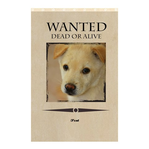 Wanted By Divad Brown   Shower Curtain 48  X 72  (small)   V78uasecqe9v   Www Artscow Com 48 x72 Curtain