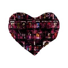 Physical Graffitied 16  Premium Heart Shape Cushion  by SaraThePixelPixie