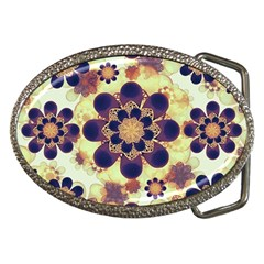 Luxury Decorative Symbols  Belt Buckle (oval) by dflcprints