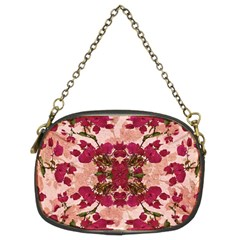 Retro Vintage Floral Motif Chain Purse (two Sided)  by dflcprints