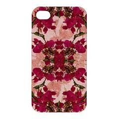 Retro Vintage Floral Motif Apple Iphone 4/4s Hardshell Case by dflcprints