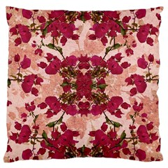 Retro Vintage Floral Motif Large Cushion Case (two Sided)
