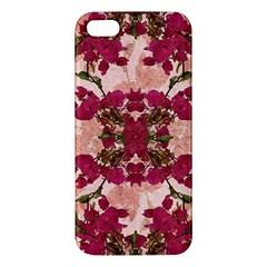 Retro Vintage Floral Motif Apple Iphone 5 Premium Hardshell Case by dflcprints