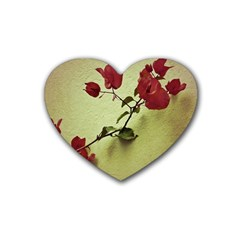 Santa Rita Flower Drink Coasters (heart) by dflcprints