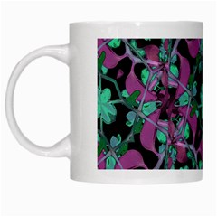 Floral Arabesque Pattern White Coffee Mug by dflcprints