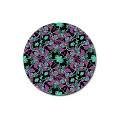 Floral Arabesque Pattern Magnet 3  (round) by dflcprints