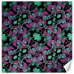 Floral Arabesque Pattern Canvas 16  X 16  (unframed) by dflcprints