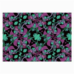 Floral Arabesque Pattern Glasses Cloth (large, Two Sided) by dflcprints
